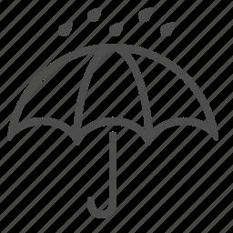 rain drops, raining, umbrella, weather, wet icon