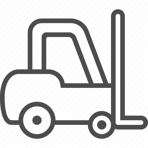 forklift, logistics, vehicle, warehouse icon