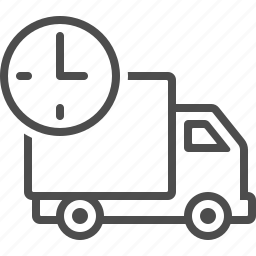clock, deadline, delivery, fast, transportation, truck, vehicle icon