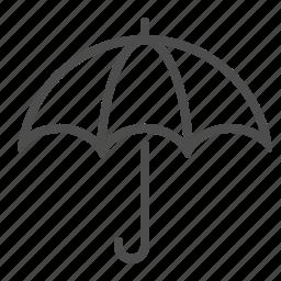 umbrella, weather, wet icon