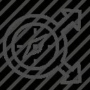 compass, crossroad, delivery, destination, navigation