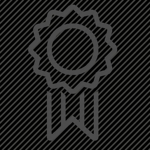 award, guarantee, medal, prize, ribbon icon