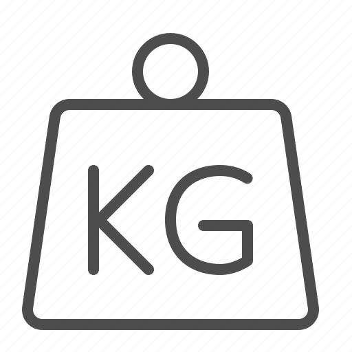 kg, kilogram, weigh scale, weight icon
