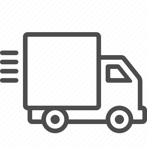 delivery, fast, shipping, speed, transportation, truck, vehicle icon