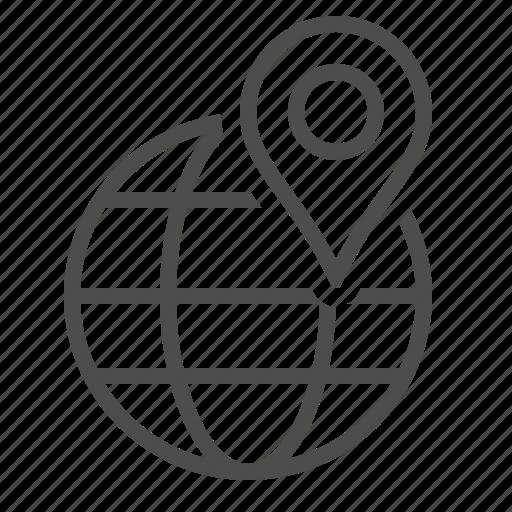 address, destination, global, globe, gps marker, location icon
