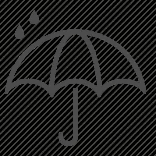 rain drop, raining, umbrella, weather, wet icon