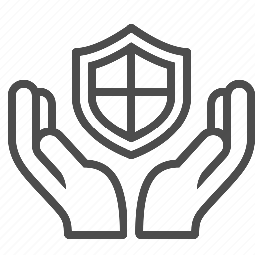 give, hands, insurance, protection, security, shield icon