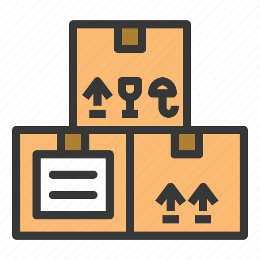 box, delivery, fragile box, logistic, shipping, transport, transportation icon