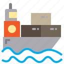 boat, cruise, group, job, manager, ship, supply icon