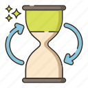 processing, sand watch, schedule, time icon