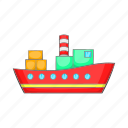 cartoon, container, export, ocean, sea, shipping, transport icon