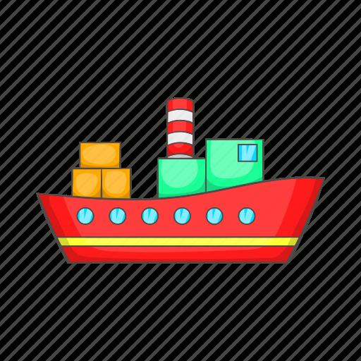 cartoon, container, export, ocean, sea, shipping, transport icon