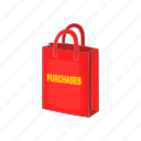 bag, buy, cartoon, delivery, purchase, sale, shop icon