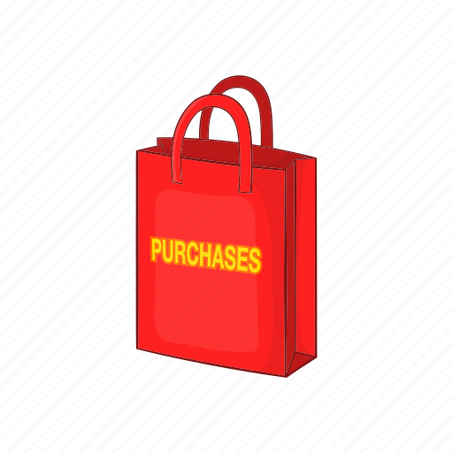 bag, buy, cartoon, delivery, purchase, sale, shop icon