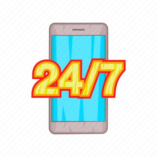 call, cartoon, phone, service, smartphone, support icon