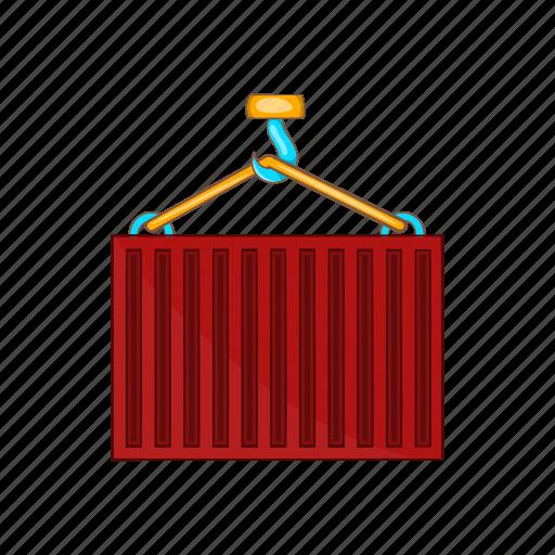 cargo, cartoon, container, crane, freight, heavy, shipping icon