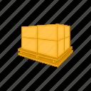 cardboard, cartoon, delivery, package, pallet, transportation