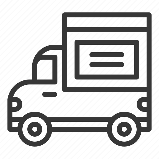 Delivery, logistic, pickup truck, shipping, transport, transportation, truck icon - Download on Iconfinder