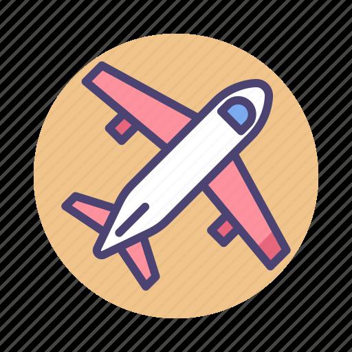 Aeroplane, aircraft, airplane, airport, flight, plane icon - Download on Iconfinder