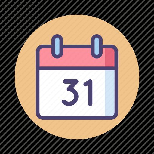 31, calendar, date, day, event, schedule icon