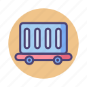 cargo, crate, railway, train icon