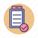 checklist, clipboard, document, list, task icon