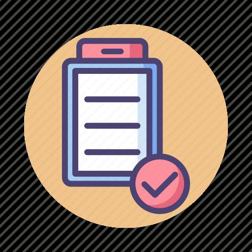 checklist, clipboard, document, list, task icon