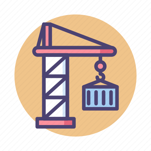 Container, crane, construction, lift icon - Download on Iconfinder