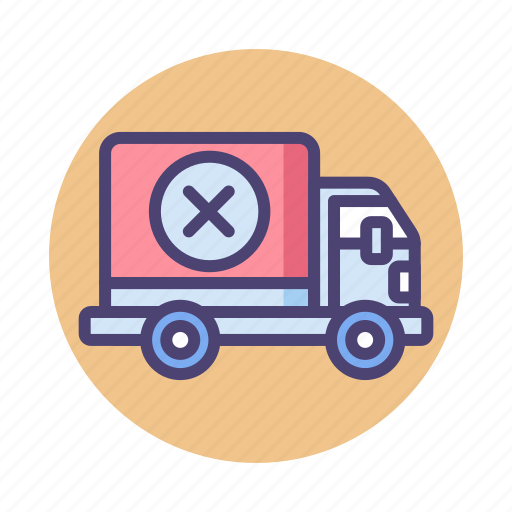 Delivery, delivery cancelled, logistics, lorry, shipping, truck icon - Download on Iconfinder