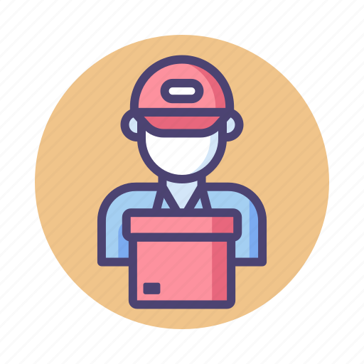 courier service, delivery, delivery boy, mailman, package, postal, postman icon