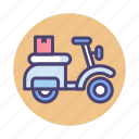 bike delivery, delivery on bike, food delivery icon