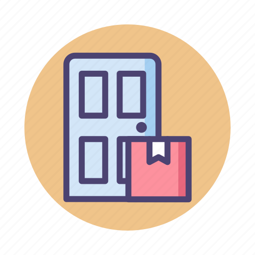delivery, doorstep, front door, package, parcel icon