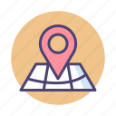 destination, gps, marker, navigation, point of interest, pointer icon
