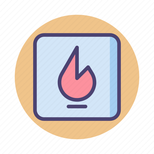 Danger, fire, flame, flammable, hot icon - Download on Iconfinder