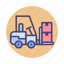 crate, forklift, logistic, shipping, warehouse icon
