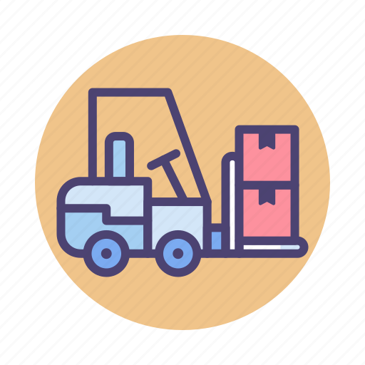 Crate, forklift, logistic, shipping, warehouse icon - Download on Iconfinder