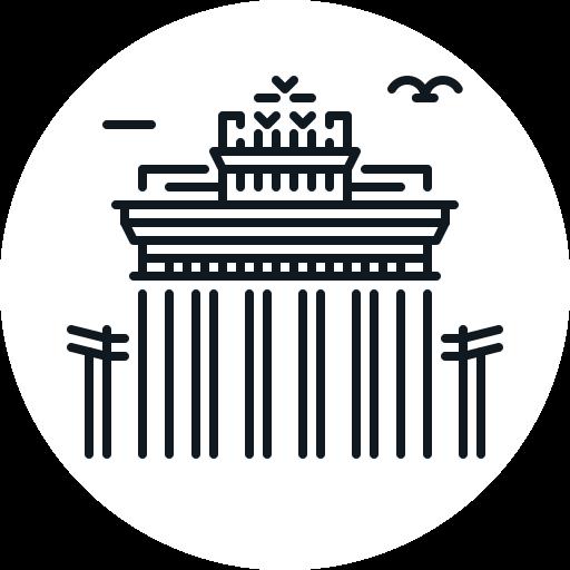 berlin, bradenburg, building, gate, landmark icon