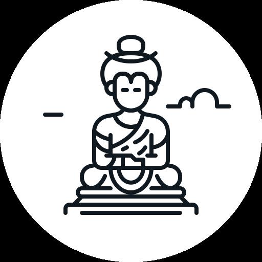 buddha, india, landmark, statuemeditation, thailand icon