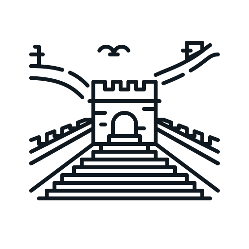building, china, great, landmark, wall icon