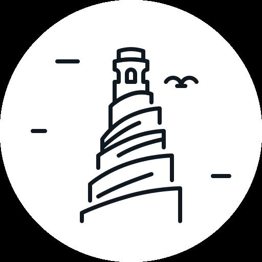 building, iraq, landmark, minaret, tower icon
