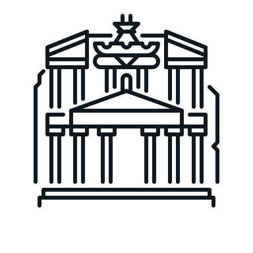building, jordan, landmark, petra icon