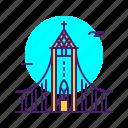 building, hallgrimskirkja, iceland, landmark icon