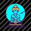 buddha, india, landmark, meditation, statue, thailand icon