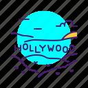 hollywood, landmark, mountain, sign, usa icon