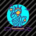 landmark, liberty, statue, usa icon