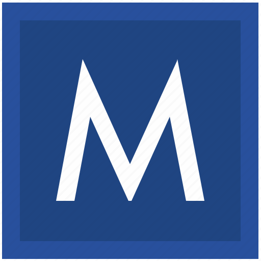 label, m, metro, metropolitan, sign, square, transport icon