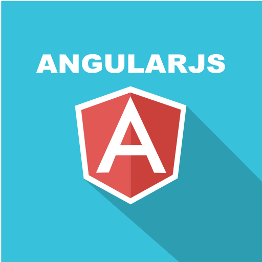 angular, front-end, javascript, long shadow, web, web technology icon