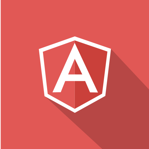 angular, front-end, javascript, long shadow, technologies, web, web technology icon
