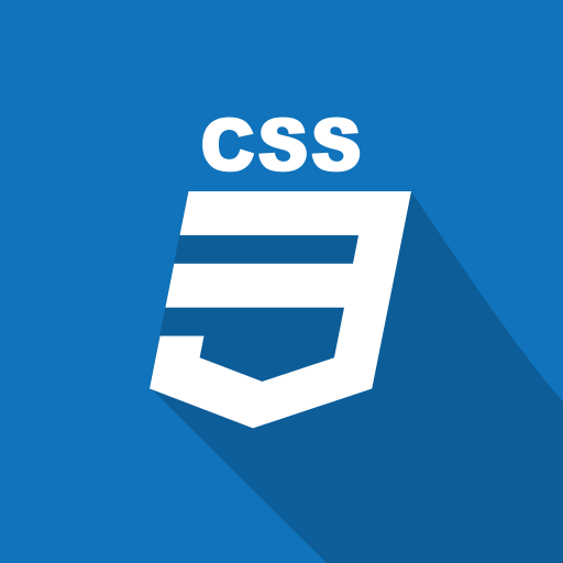 css, front-end, long shadow, web, web technology icon