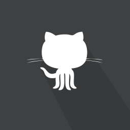 github, long shadow, repository, web icon